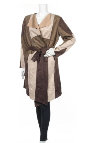 Дамско палто Zara, Размер L, Цвят Кафяв, 95% полиестер, 5% еластан, Цена 61,58лв.