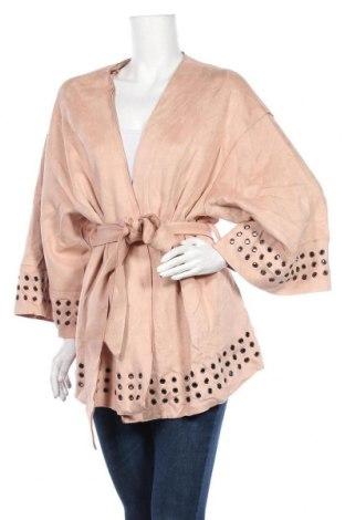 Дамско палто Zara, Размер XL, Цвят Розов, Цена 48,20лв.