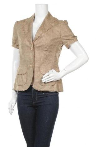 Дамско сако Elegance, Размер S, Цвят Бежов, 54% лен, 44% полиестер, 2% еластан, Цена 15,59лв.