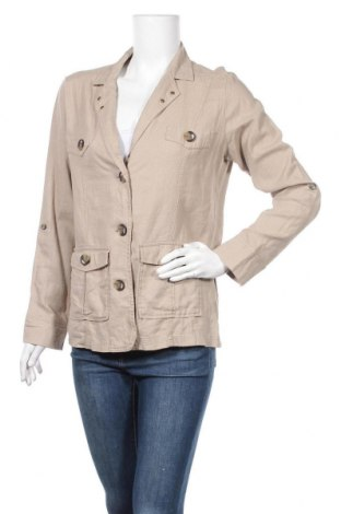 Дамско сако Atlas For Women, Размер M, Цвят Бежов, 50% лен, 50% вискоза, Цена 4,10лв.
