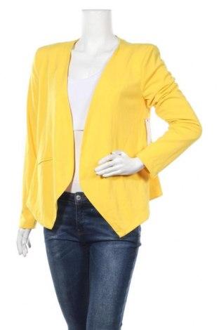 Γυναικείο σακάκι Bisou Bisou By Michele Bohbot, Μέγεθος M, Χρώμα Κίτρινο, 95% πολυεστέρας, 5% ελαστάνη, Τιμή 31,82€