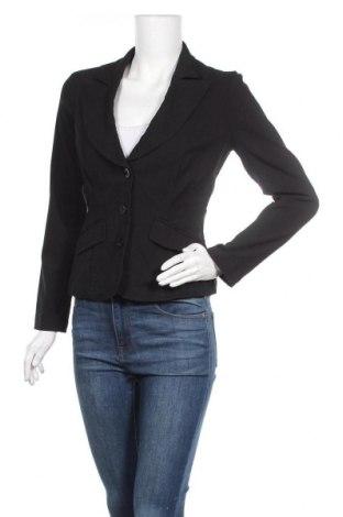 Γυναικείο σακάκι Bisou Bisou By Michele Bohbot, Μέγεθος S, Χρώμα Μαύρο, 76% βισκόζη, 21% πολυαμίδη, 3% ελαστάνη, Τιμή 15,59€