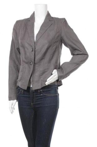 Дамско сако Bon'a Parte, Размер L, Цвят Сив, 55% лен, 45% памук, Цена 9,66лв.
