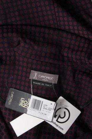 Дамско сако Camomilla, Размер L, Цвят Лилав, 70% полиестер, 25% вискоза, 5% еластан, еко кожа, Цена 27,37лв.