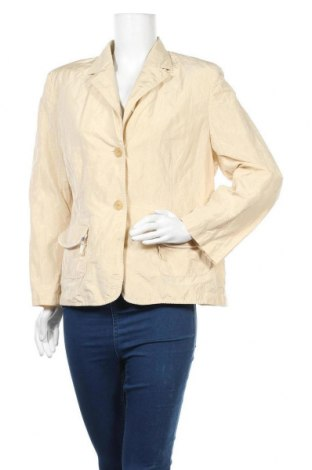 Γυναικείο σακάκι Dino Moda, Μέγεθος XL, Χρώμα  Μπέζ, 91% πολυεστέρας, 9% μέταλλο, Τιμή 3,55€