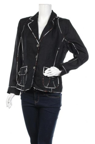 Дамско сако Dresses Unlimited, Размер M, Цвят Черен, Лен, Цена 5,78лв.