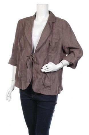 Дамско сако Fabiani, Размер XL, Цвят Кафяв, Лен, Цена 7,35лв.