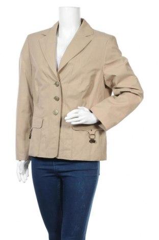 Дамско сако Fabiani, Размер XL, Цвят Бежов, 65% памук, 35% полиамид, Цена 24,99лв.