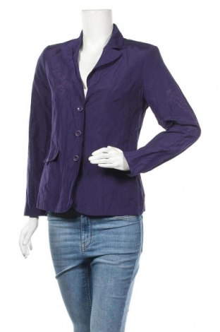 Дамско сако Fabiani, Размер M, Цвят Лилав, 47% памук, 46% полиестер, 7% метални нишки, Цена 5,78лв.