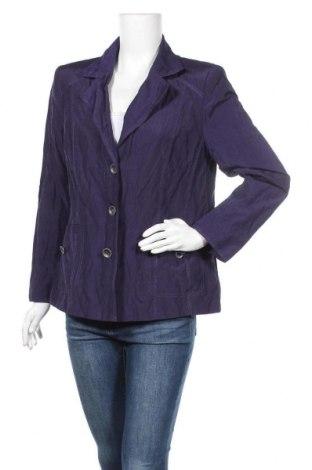 Дамско сако Fabiani, Размер XL, Цвят Лилав, 47% памук, 46% полиестер, 7% метални нишки, Цена 8,82лв.
