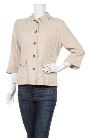 Дамско сако Franco Callegari, Размер M, Цвят Бежов, 51% лен, 49% лиосел, Цена 10,08лв.