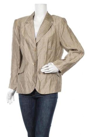Дамско сако Franco Callegari, Размер XL, Цвят Бежов, 86% лен, 14% полиамид, Цена 16,17лв.