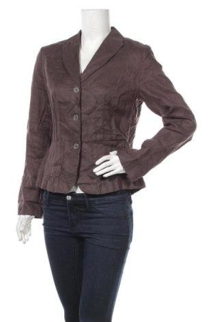 Дамско сако Franco Callegari, Размер M, Цвят Кафяв, Лен, Цена 18,90лв.