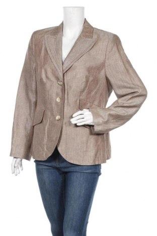 Дамско сако Franco Callegari, Размер XL, Цвят Бежов, 60% лен, 30% вълна, 10% коприна, Цена 17,64лв.