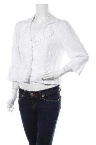 Γυναικείο σακάκι G.W., Μέγεθος M, Χρώμα Λευκό, Λινό, Τιμή 14,78€