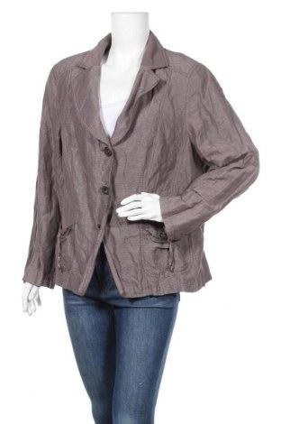 Γυναικείο σακάκι G.W., Μέγεθος XL, Χρώμα Γκρί, 40% βαμβάκι, 36% πολυαμίδη, 14% πολυεστέρας, 10% μεταλλικά νήματα, Τιμή 15,46€
