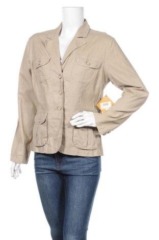 Дамско сако Gloria Vanderbilt, Размер L, Цвят Бежов, 98% памук, 2% еластан, Цена 14,18лв.
