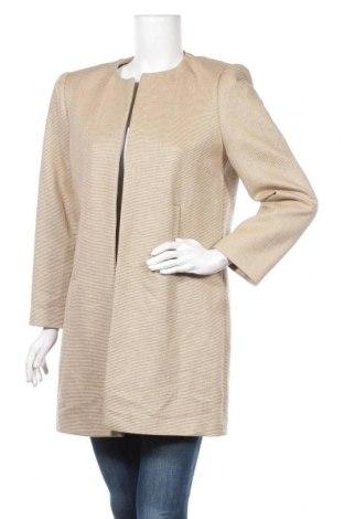 Γυναικείο σακάκι Hallhuber, Μέγεθος L, Χρώμα  Μπέζ, 72% βαμβάκι, 28% πολυαμίδη, Τιμή 40,27€