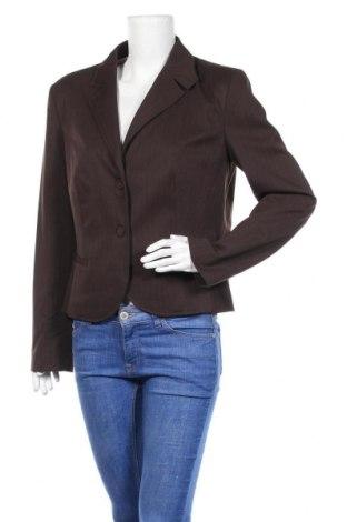 Γυναικείο σακάκι Kenvelo, Μέγεθος XL, Χρώμα Καφέ, 66% πολυουρεθάνης, 32% βισκόζη, 2% ελαστάνη, Τιμή 7,27€