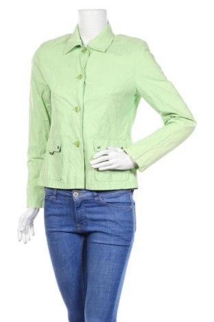 Дамско сако Laura Lebek, Размер S, Цвят Зелен, 55% памук, 39% полиамид, 6% метални нишки, Цена 8,14лв.