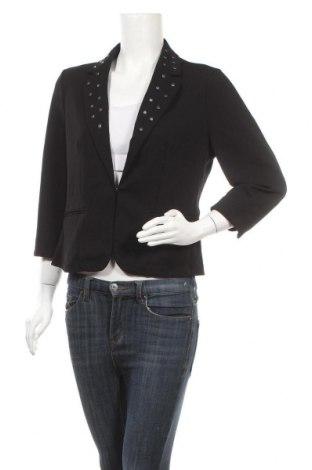 Дамско сако Linda Matthews, Размер M, Цвят Черен, 97% полиестер, 9% еластан, Цена 6,83лв.
