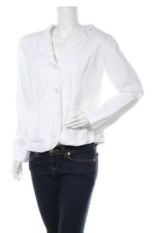 Дамско сако Marco Pecci, Размер L, Цвят Бял, 100% лен, Цена 22,68лв.