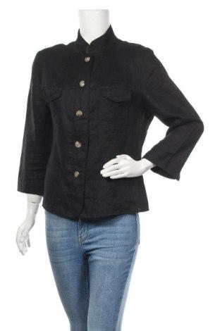 Дамско сако Marco Pecci, Размер XL, Цвят Черен, Лен, Цена 8,93лв.