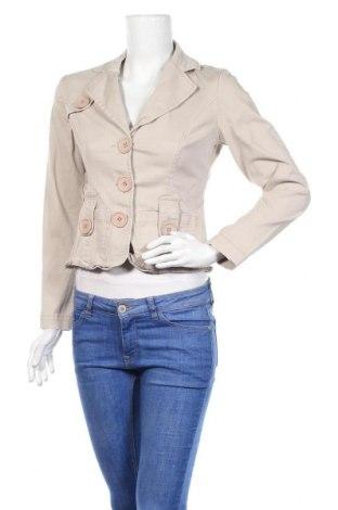 Дамско сако Mim, Размер S, Цвят Бежов, 98% памук, 2% еластан, Цена 6,04лв.
