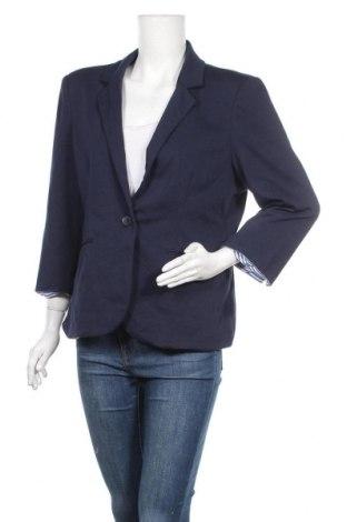 Дамско сако Nicole Miller, Размер XL, Цвят Син, 57% памук, 37% полиестер, 6% еластан, Цена 27,30лв.