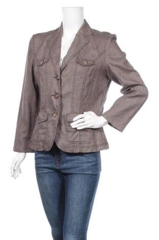 Γυναικείο σακάκι One Touch, Μέγεθος L, Χρώμα Καφέ, Λινό, Τιμή 5,23€
