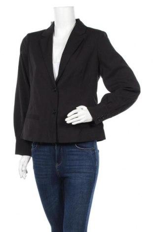 Γυναικείο σακάκι Pieces, Μέγεθος M, Χρώμα Μαύρο, 64% πολυεστέρας, 34% βισκόζη, 2% ελαστάνη, Τιμή 19,07€