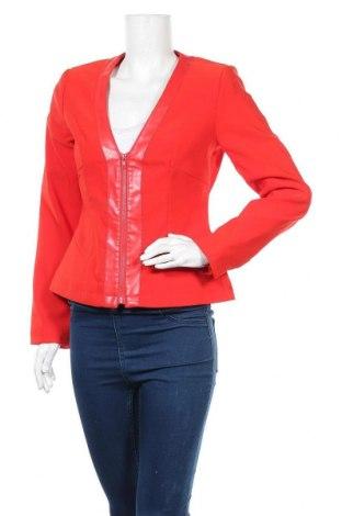 Дамско сако Trend, Размер S, Цвят Червен, 70% полиестер, 25% вискоза, 5% еластан, еко кожа, Цена 9,92лв.