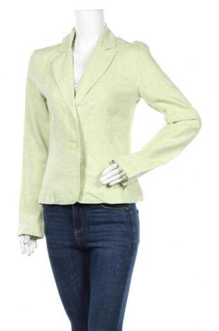 Дамско сако Willi Smith, Размер M, Цвят Зелен, Лен, Цена 7,09лв.
