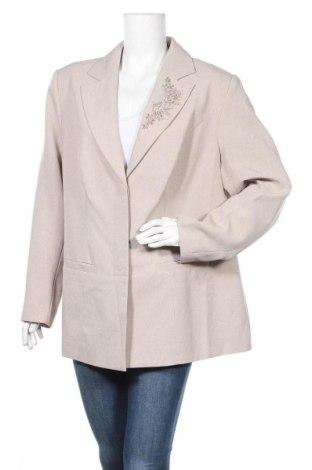 Γυναικείο σακάκι Women's Selection, Μέγεθος XXL, Χρώμα  Μπέζ, 100% πολυεστέρας, Τιμή 12,25€