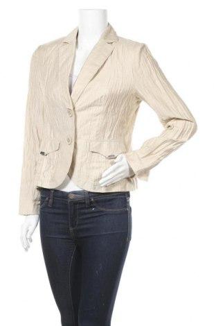Γυναικείο σακάκι Yorn, Μέγεθος M, Χρώμα  Μπέζ, 44% λινό, 44% βισκόζη, 12% πολυαμίδη, Τιμή 6,14€