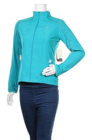 Γυναικείο μπουφάν αθλητικό New Balance, Μέγεθος S, Χρώμα Μπλέ, Πολυεστέρας, Τιμή 72,23€