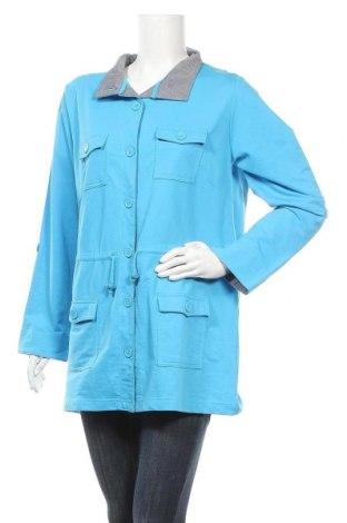 Дамско яке, Размер XL, Цвят Син, 65% полиестер, 35% памук, Цена 32,13лв.