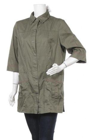 Дамско яке, Размер L, Цвят Зелен, 55% памук, 45% полиестер, Цена 11,11лв.