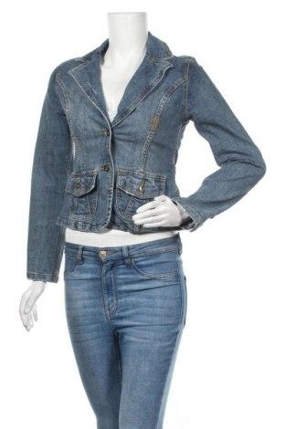 Дамско яке, Размер XS, Цвят Син, 80% памук, 18% полиестер, 2% еластан, Цена 9,45лв.