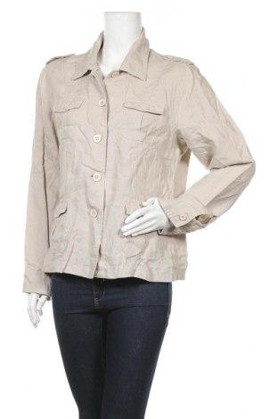 Дамско яке, Размер XL, Цвят Бежов, Лен, Цена 9,98лв.