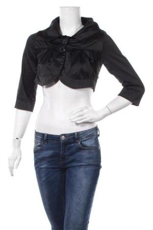 Дамско яке Amisu, Размер S, Цвят Черен, 45% памук, 52% полиестер, 3% еластан, Цена 6,04лв.