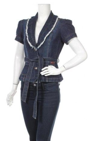 Γυναικείο μπουφάν Apart, Μέγεθος M, Χρώμα Μπλέ, 96% βαμβάκι, 4% ελαστάνη, Τιμή 11,82€