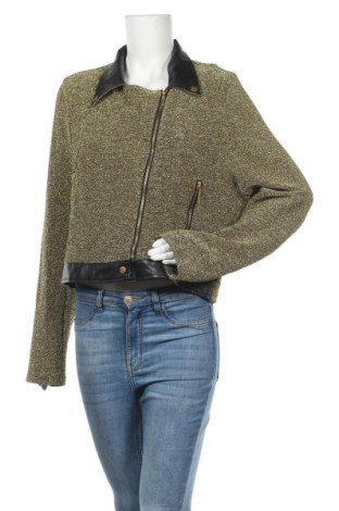 Дамско яке Fashion to Figure, Размер L, Цвят Златист, 55% памук, 40% полиестер, 5% еластан, Цена 9,45лв.