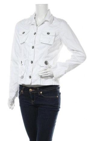 Дамско яке H&M L.O.G.G., Размер M, Цвят Бял, Памук, Цена 10,76лв.