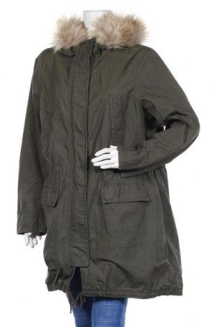 Дамско яке H&M L.O.G.G., Размер XL, Цвят Зелен, Памук, Цена 44,10лв.