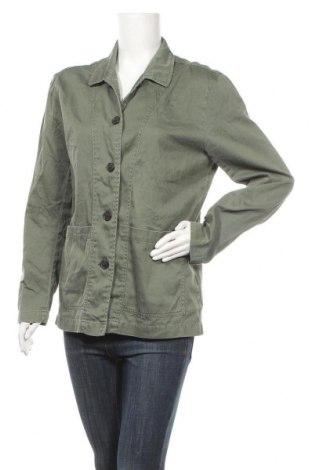 Дамско яке H&M L.O.G.G., Размер L, Цвят Зелен, Памук, Цена 33,92лв.