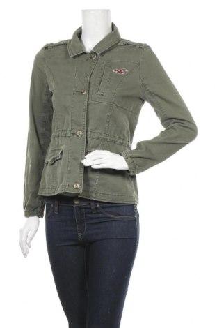 Дамско яке Hollister, Размер M, Цвят Зелен, 98% памук, 2% еластан, Цена 39,69лв.