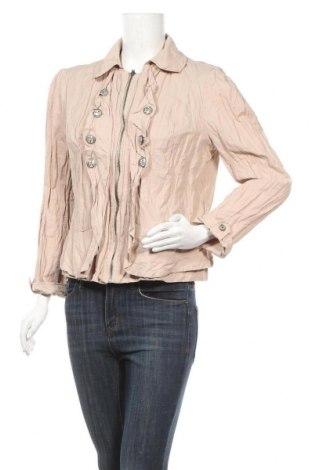 Γυναικείο μπουφάν Ny Collection, Μέγεθος XL, Χρώμα  Μπέζ, 52% βαμβάκι, 43% πολυαμίδη, μεταλλικά νήματα, Τιμή 7,27€
