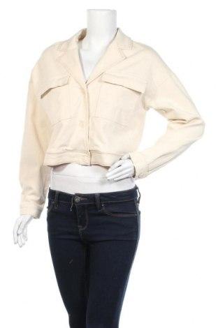 Γυναικείο μπουφάν Pieces, Μέγεθος M, Χρώμα Εκρού, Τιμή 17,79€