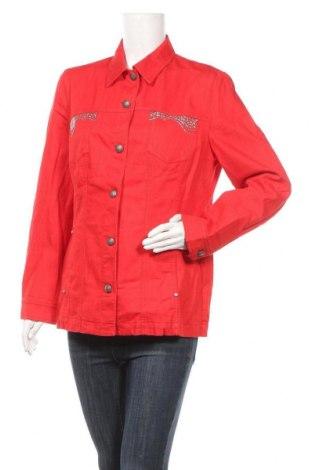 Дамско яке Pompoos Design By Harald Gloockler, Размер XL, Цвят Червен, 80% памук, 18% полиамид, 2% еластан, Цена 20,16лв.